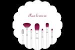 Brosses à cosmétiques Étiquettes D'Adresse - gabarit prédéfini. <br/>Utilisez notre logiciel Avery Design & Print Online pour personnaliser facilement la conception.