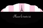 Style parisien Étiquette Industrielles - gabarit prédéfini. <br/>Utilisez notre logiciel Avery Design & Print Online pour personnaliser facilement la conception.