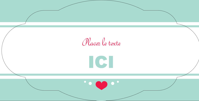"""8½"""" x 11"""" Étiquette Industrielles - Cœur de princesse"""