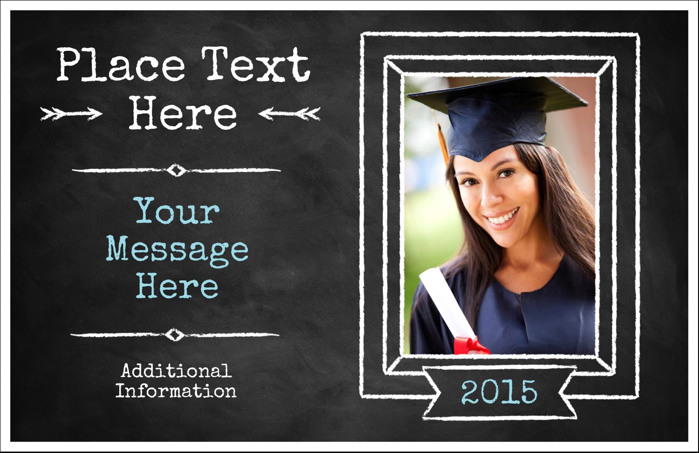 "5½"" x 8½"" Greeting Card - Chalk Inspired Graduation"