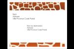 Imprimé girafe Étiquettes d'expédition - gabarit prédéfini. <br/>Utilisez notre logiciel Avery Design & Print Online pour personnaliser facilement la conception.