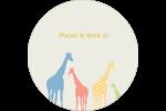 Girafe en fête Étiquettes rondes - gabarit prédéfini. <br/>Utilisez notre logiciel Avery Design & Print Online pour personnaliser facilement la conception.