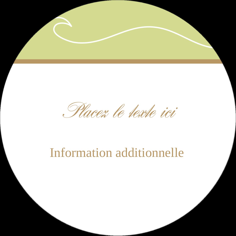 """3"""" Diameter Étiquettes rondes - Femme aux orchidées"""