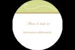 Femme aux orchidées Étiquettes rondes - gabarit prédéfini. <br/>Utilisez notre logiciel Avery Design & Print Online pour personnaliser facilement la conception.