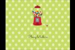 Boules de gomme Carte Postale - gabarit prédéfini. <br/>Utilisez notre logiciel Avery Design & Print Online pour personnaliser facilement la conception.
