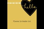 Cœur brodé hello Étiquettes enveloppantes - gabarit prédéfini. <br/>Utilisez notre logiciel Avery Design & Print Online pour personnaliser facilement la conception.