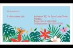 Plantes tropicales Carte d'affaire - gabarit prédéfini. <br/>Utilisez notre logiciel Avery Design & Print Online pour personnaliser facilement la conception.