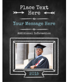 Add everyday charm to your project with pre-designed Chalk Inspired Graduation templates.