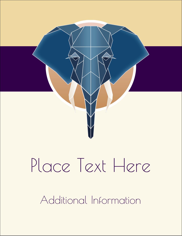 "5½"" x 4¼"" Postcard - Geometric Elephant"