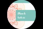 Napperon géométrique Étiquettes rondes - gabarit prédéfini. <br/>Utilisez notre logiciel Avery Design & Print Online pour personnaliser facilement la conception.