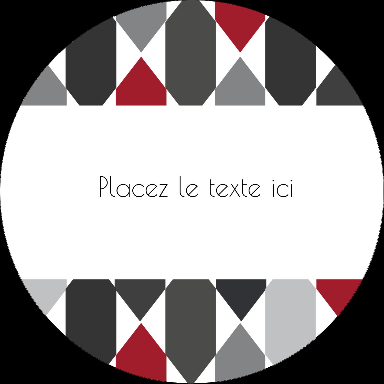 """3"""" x 2¼"""" Étiquettes arrondies - Hexagone rouge"""