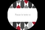 Hexagone rouge Étiquettes arrondies - gabarit prédéfini. <br/>Utilisez notre logiciel Avery Design & Print Online pour personnaliser facilement la conception.