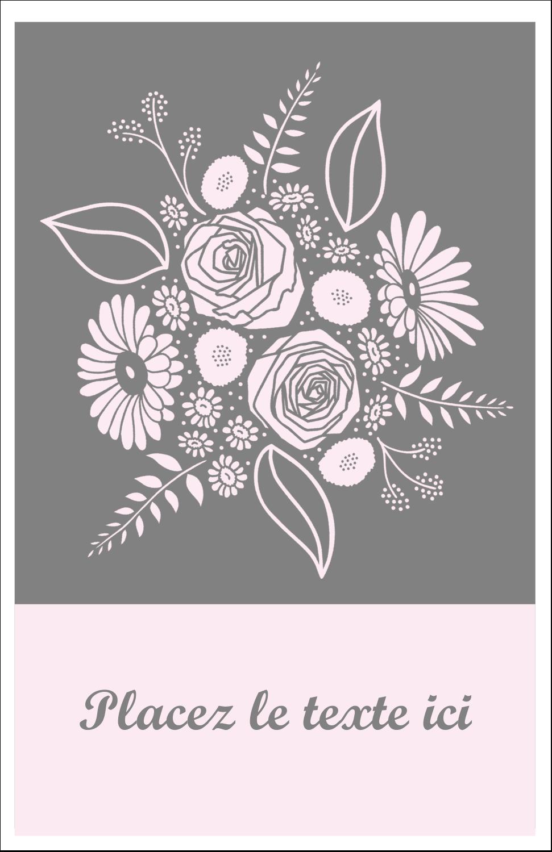 """8½"""" x 11"""" Binder Insert Reliures - Bouquet de fleurs"""