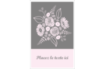 Bouquet de fleurs Reliures - gabarit prédéfini. <br/>Utilisez notre logiciel Avery Design & Print Online pour personnaliser facilement la conception.
