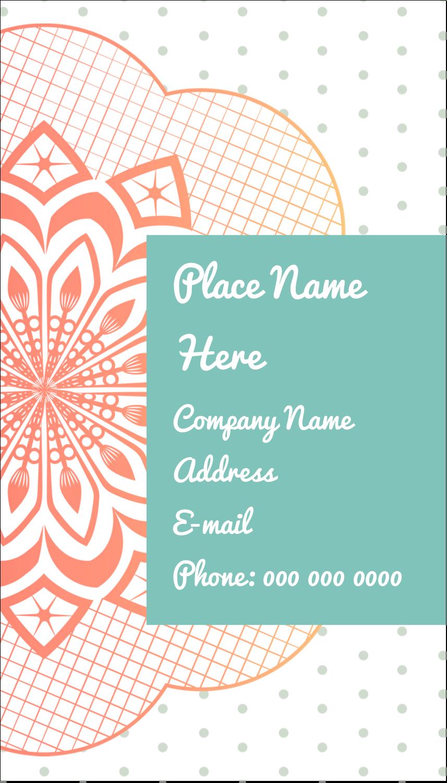"""3½"""" x 2"""" Business Card - Geometric Doily"""