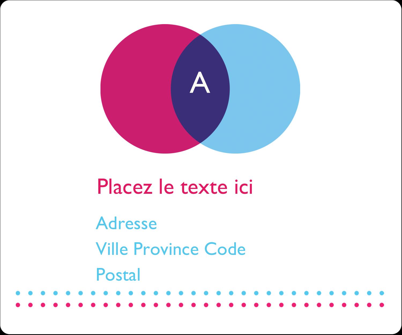 """½"""" x 1¾"""" Étiquettes D'Adresse - Styliste"""