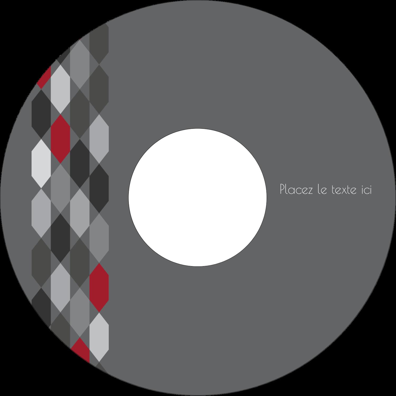 """⅔"""" x 3-7/16"""" Étiquettes de classement - Hexagone rouge"""