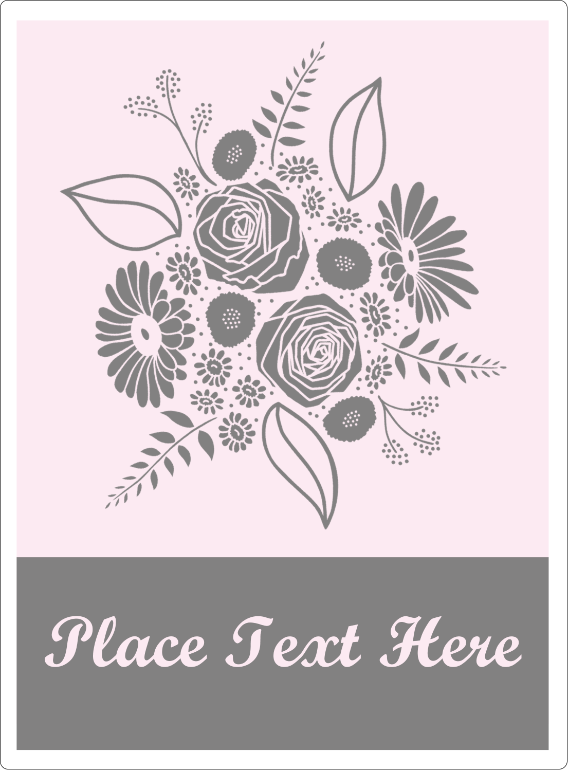 "4¾"" x 3½"" Rectangular Label - Floral Bouquet"