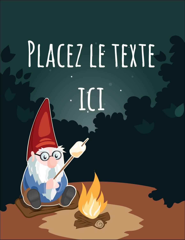 "5½"" x 4¼"" Carte Postale - Gnome en camping"