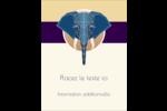Éléphant géométrique Carte Postale - gabarit prédéfini. <br/>Utilisez notre logiciel Avery Design & Print Online pour personnaliser facilement la conception.