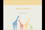 Girafe en fête Carte Postale - gabarit prédéfini. <br/>Utilisez notre logiciel Avery Design & Print Online pour personnaliser facilement la conception.