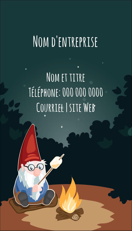 """3½"""" x 2"""" Carte d'affaire - Gnome en camping"""