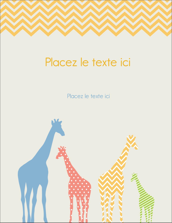 """5½"""" x 4¼"""" Carte Postale - Girafe en fête"""
