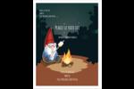 Gnome en camping Carte Postale - gabarit prédéfini. <br/>Utilisez notre logiciel Avery Design & Print Online pour personnaliser facilement la conception.