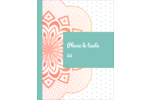 Napperon géométrique Carte Postale - gabarit prédéfini. <br/>Utilisez notre logiciel Avery Design & Print Online pour personnaliser facilement la conception.
