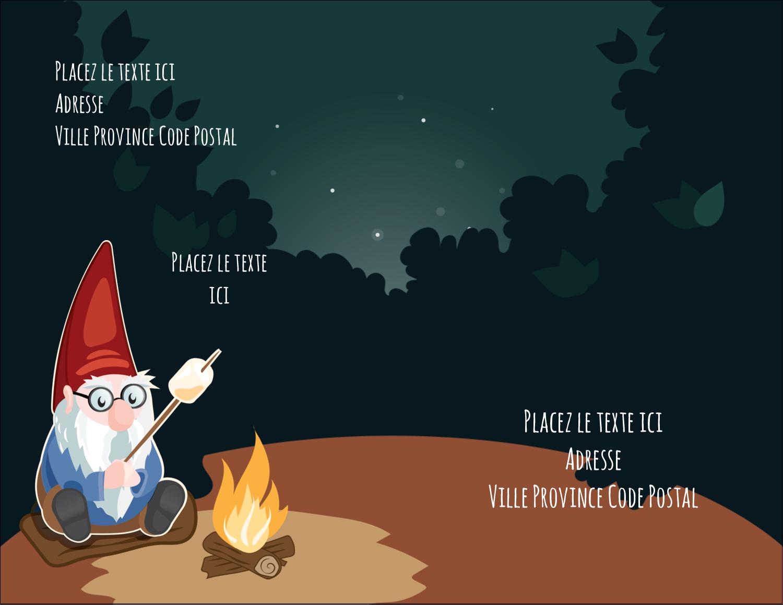 "4¼"" X 5½"" Carte Postale - Gnome en camping"