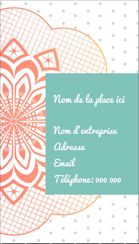 """2"""" x 3½"""" Carte d'affaire - Napperon géométrique"""