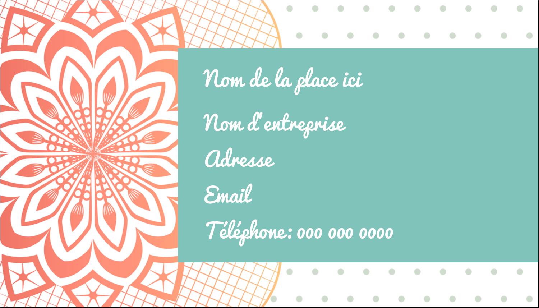 """3½"""" x 2"""" Carte d'affaire - Napperon géométrique"""