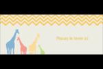 Girafe en fête Affichette - gabarit prédéfini. <br/>Utilisez notre logiciel Avery Design & Print Online pour personnaliser facilement la conception.