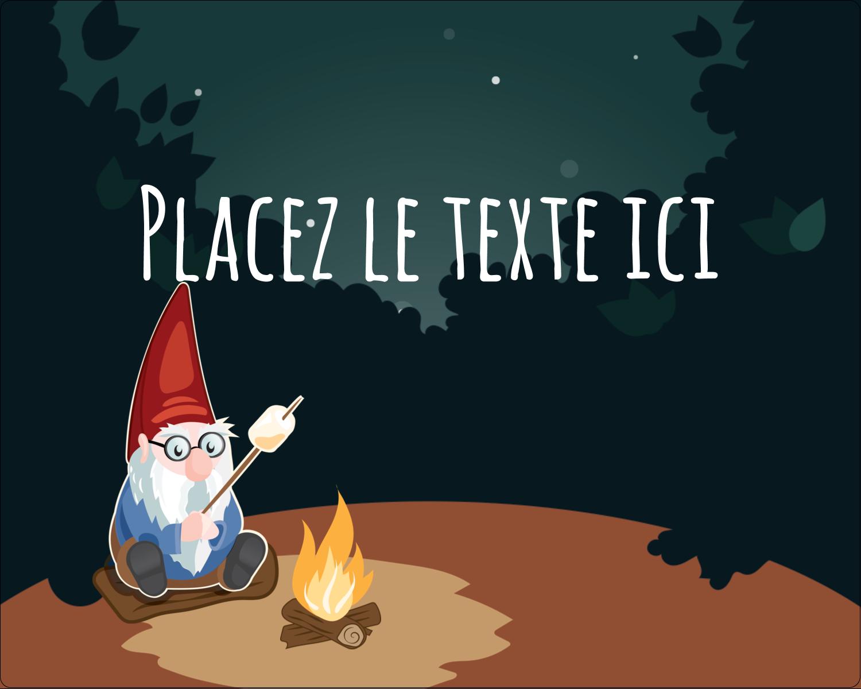 """2"""" Diameter Étiquettes rondes gaufrées - Gnome en camping"""