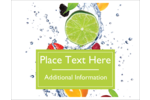 Add a splash of summer to customized projects with pre-designed Fresh Fruit templates.
