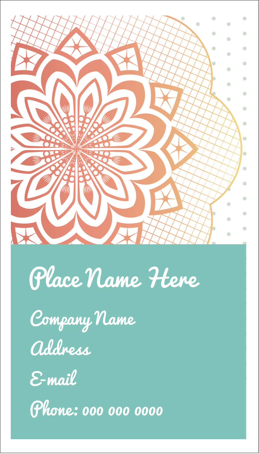 "3½"" x 2"" Business Card - Geometric Doily"