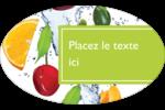 Fruits frais Étiquettes carrées - gabarit prédéfini. <br/>Utilisez notre logiciel Avery Design & Print Online pour personnaliser facilement la conception.