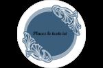 Bouquet français Étiquettes arrondies - gabarit prédéfini. <br/>Utilisez notre logiciel Avery Design & Print Online pour personnaliser facilement la conception.