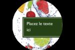 Fruits frais Étiquettes arrondies - gabarit prédéfini. <br/>Utilisez notre logiciel Avery Design & Print Online pour personnaliser facilement la conception.