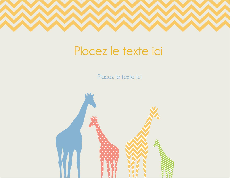 """4¼"""" X 5½"""" Carte Postale - Girafe en fête"""
