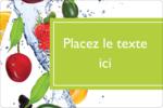 Fruits frais Étiquettes rectangulaires - gabarit prédéfini. <br/>Utilisez notre logiciel Avery Design & Print Online pour personnaliser facilement la conception.