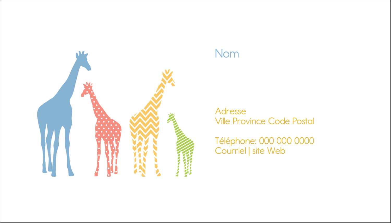 """2"""" x 3½"""" Carte d'affaire - Girafe en fête"""