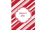 Motif de canne de bonbon Carte Postale - gabarit prédéfini. <br/>Utilisez notre logiciel Avery Design & Print Online pour personnaliser facilement la conception.