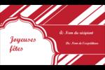 Motif de canne de bonbon Carte d'affaire - gabarit prédéfini. <br/>Utilisez notre logiciel Avery Design & Print Online pour personnaliser facilement la conception.