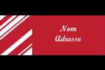 Motif de canne de bonbon Étiquettes D'Adresse - gabarit prédéfini. <br/>Utilisez notre logiciel Avery Design & Print Online pour personnaliser facilement la conception.