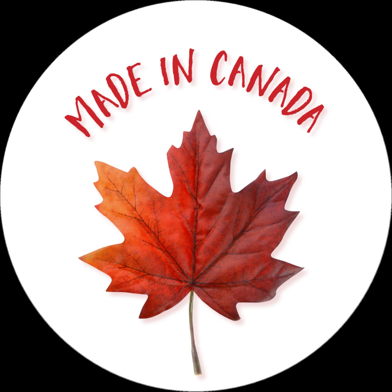 """2½"""" Diameter Étiquettes rondes - Fête du Canada"""