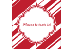 Motif de canne de bonbon Étiquettes carrées - gabarit prédéfini. <br/>Utilisez notre logiciel Avery Design & Print Online pour personnaliser facilement la conception.