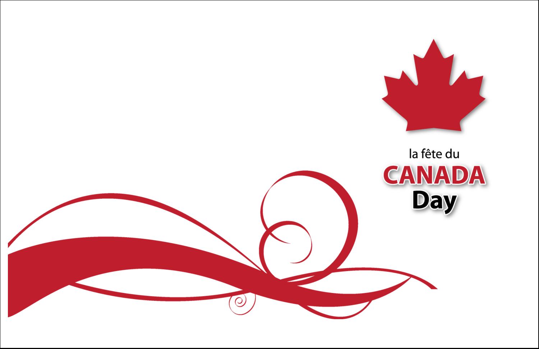 """5½"""" x 8½"""" Cartes de souhaits pliées en deux - Fête du Canada"""