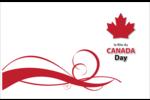Fête du Canada Cartes de souhaits pliées en deux - gabarit prédéfini. <br/>Utilisez notre logiciel Avery Design & Print Online pour personnaliser facilement la conception.
