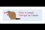 Fête du Canada Étiquettes d'adresse - gabarit prédéfini. <br/>Utilisez notre logiciel Avery Design & Print Online pour personnaliser facilement la conception.